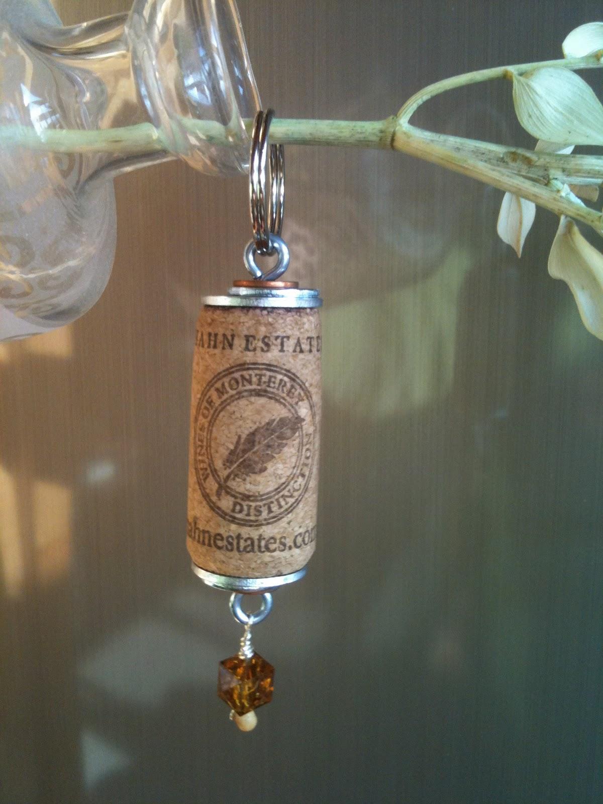 wine cork key chains charming by design. Black Bedroom Furniture Sets. Home Design Ideas